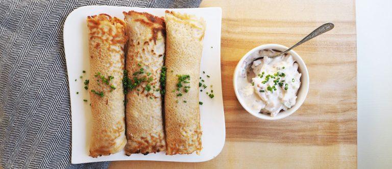 Kinkkutäytteiset letut ovat herkullinen lounas tai iltapala.