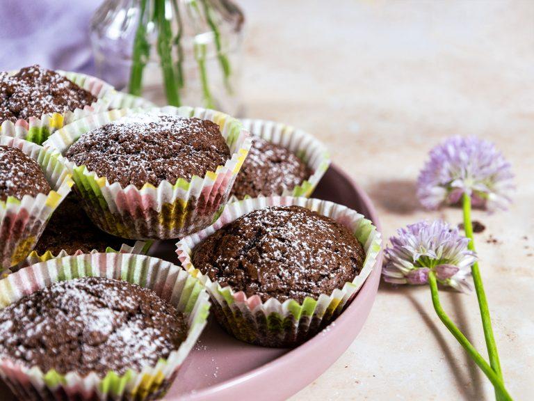 Gluteenittomat ja vegaaniset suklaamuffinssit